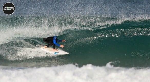 Daniel Frodsham in a barrel