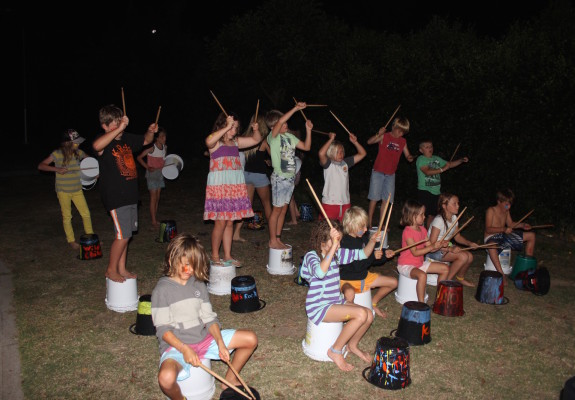 surfing camp 02 - night time drumming